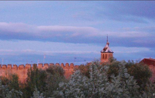 Reste der historischen Stadtmauer von Mansilla de las Mulas