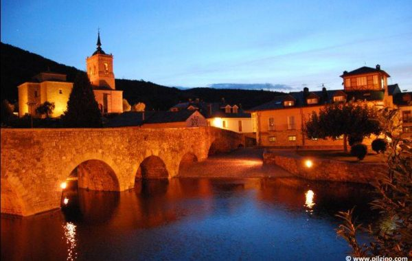 abends in Molinaseca